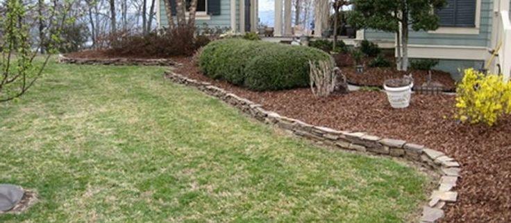 Large Front Yard Garden Stone Landscape Edging Ideas