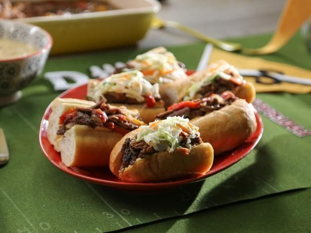 Get Valerie Bertinelli's Italian Slow Cooker Beef Sandwiches with Giardiniera Aioli Recipe from Food Network