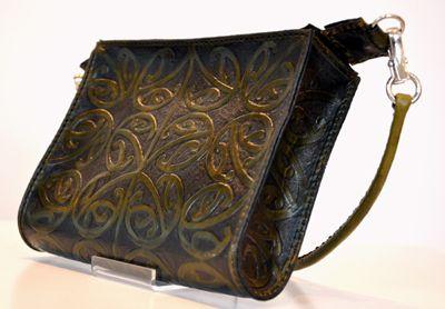 Maori Design Patrick James Design Carved Leather Kowhaiwhai Kete