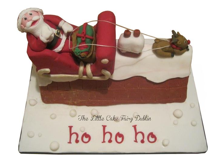 A Santa's Sleigh cake for which I won 3rd prize in the Dublin Sugarcraft Guild 2012 Novelty Christmas Cake Competition www.littlecakefairydublin.com  www.facebook.com/littlecakefairydublin