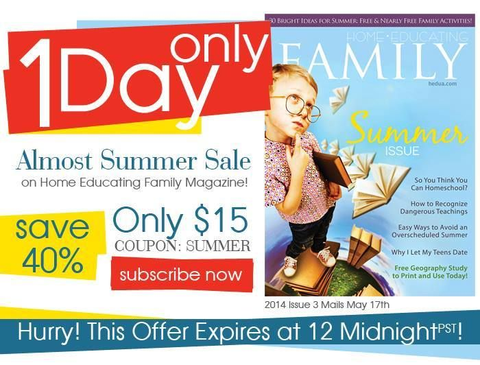 97 best homeschool deals limited time images on pinterest home educating family magazine subscription coupon code 40 off fandeluxe Gallery