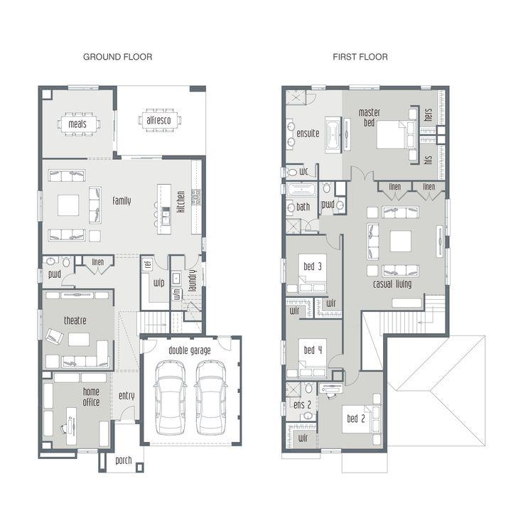 Townhouse Floor Plan 3 Car Garage Google Search: Dual Occupancy House Plans - Google Search