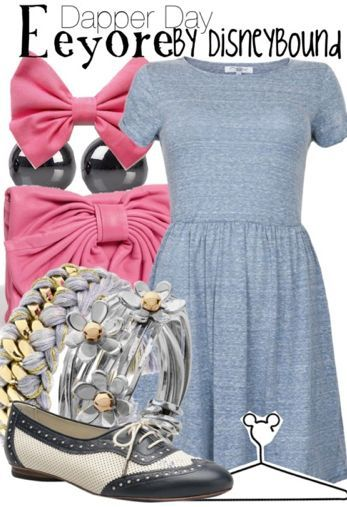 Eeyore from The Many Adventures of Winnie the Pooh disneybound