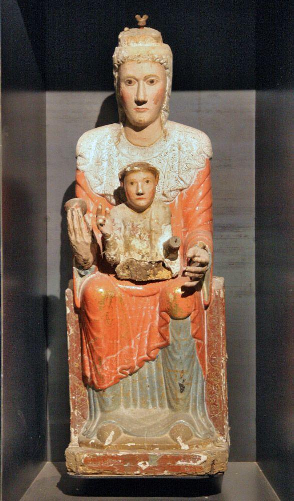 Virgen románica de Aldaba, siglo XII, catedral de Navarra