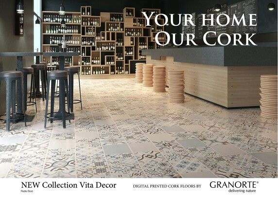 New VITA DECOR COLLECTION. Design cork floor.