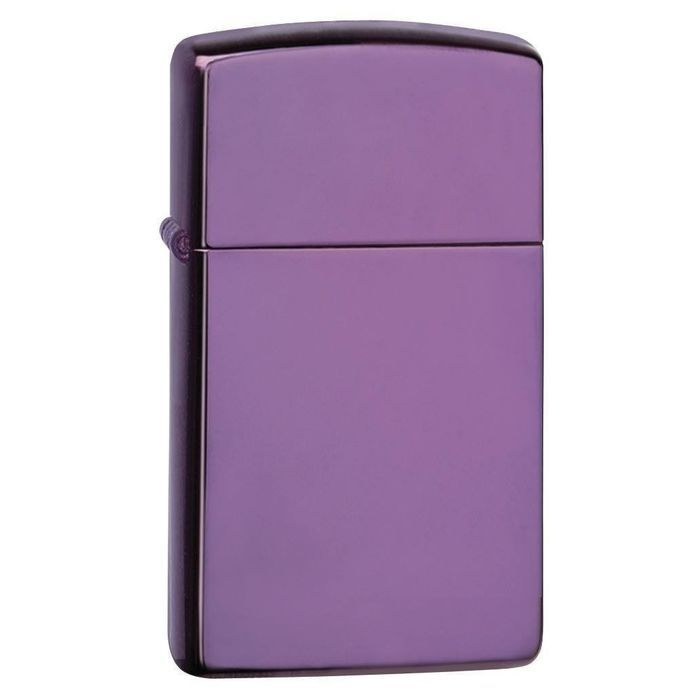 Zippo Slim Abyss Polished Purple Finish #28124 Oil Lighter