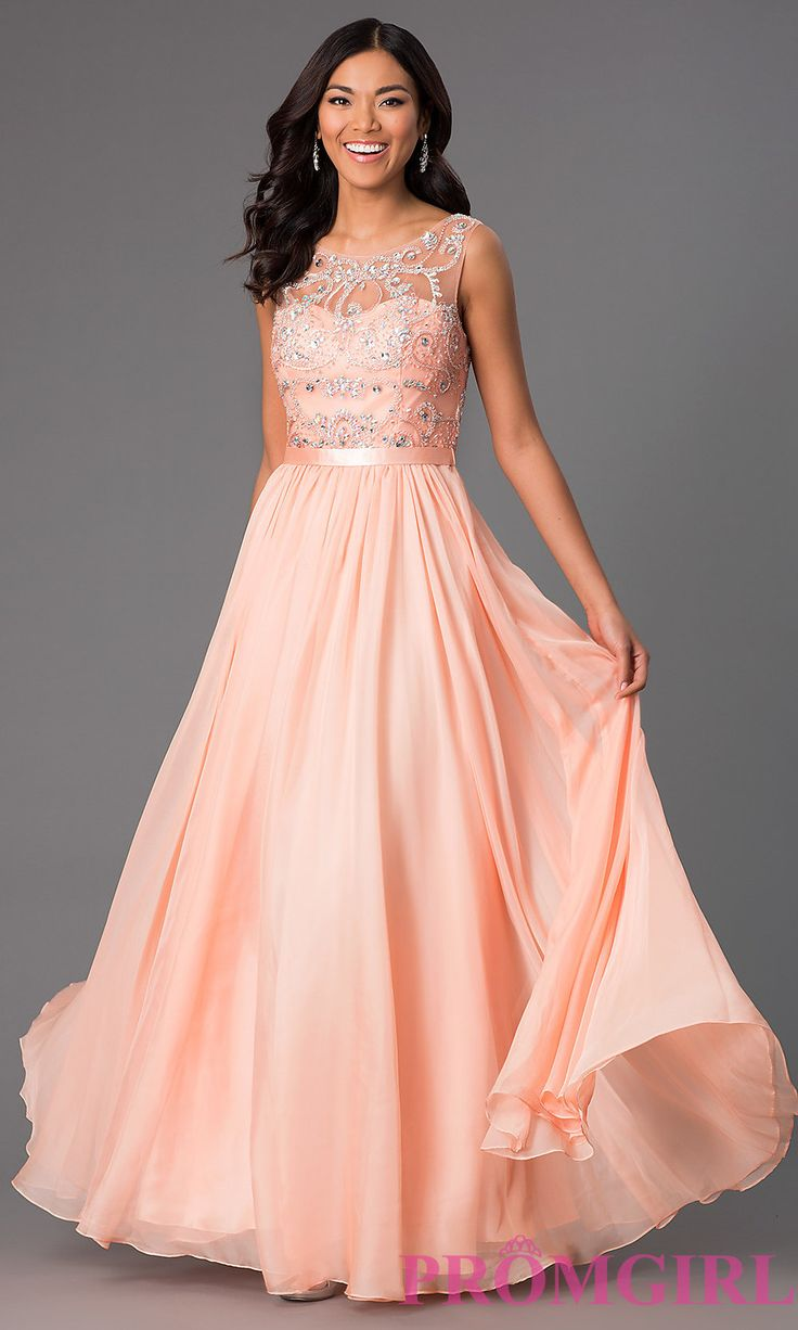 Long Sleeveless Prom Dress with Jewel Detailing in 2019 ...