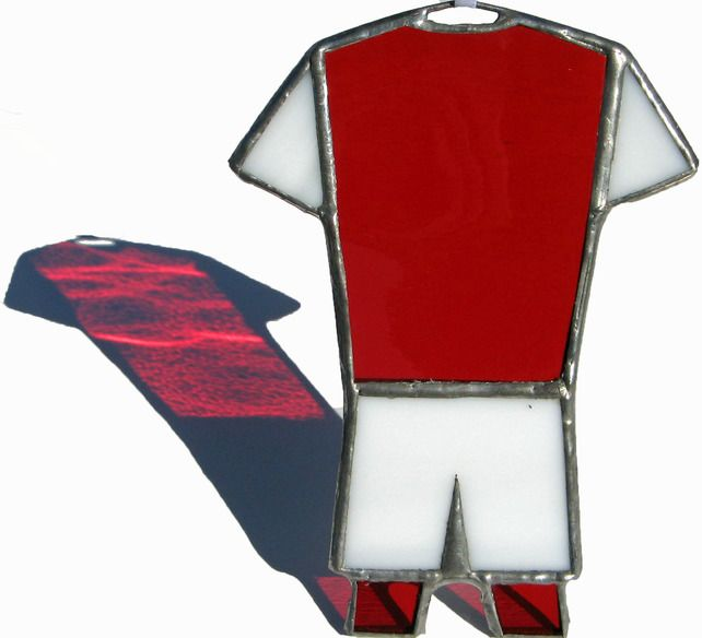 ARSENAL, ROTHERHAM UNITED, FLEETWOOD TOWN Football Kit Stained Glass Suncatcher £10.00