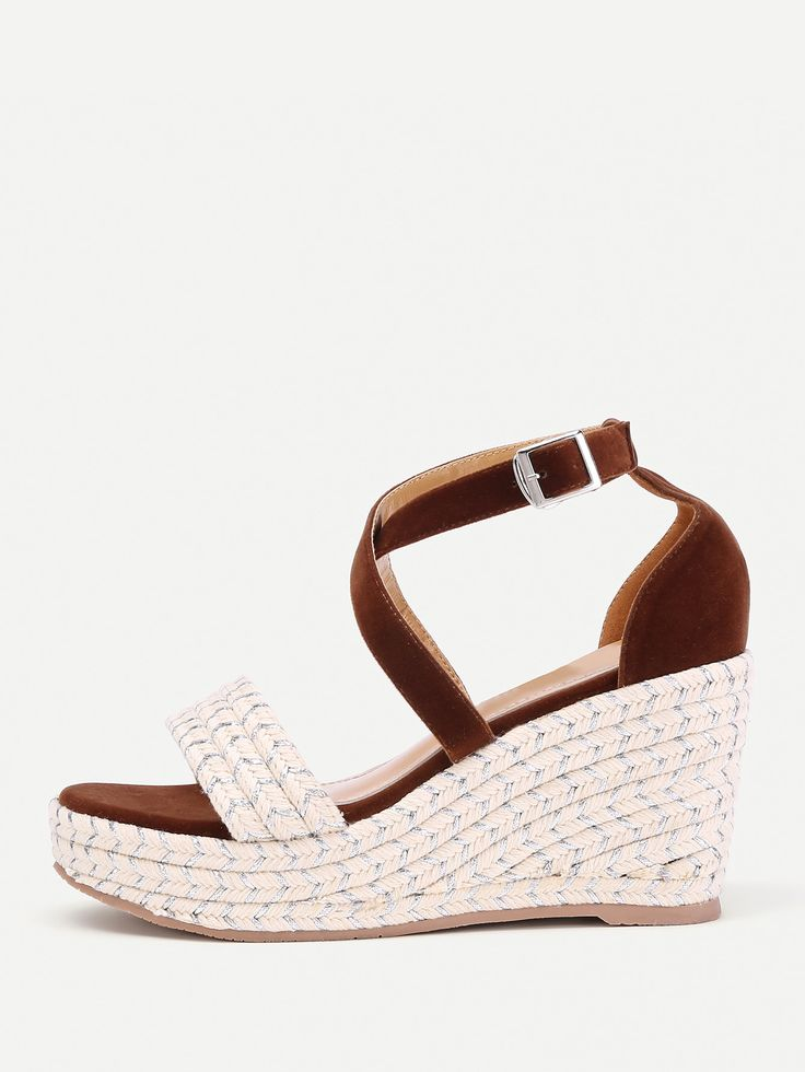 Shop Criss Cross Woven Wedge Sandals online. SheIn offers Criss Cross Woven Wedge Sandals & more to fit your fashionable needs.