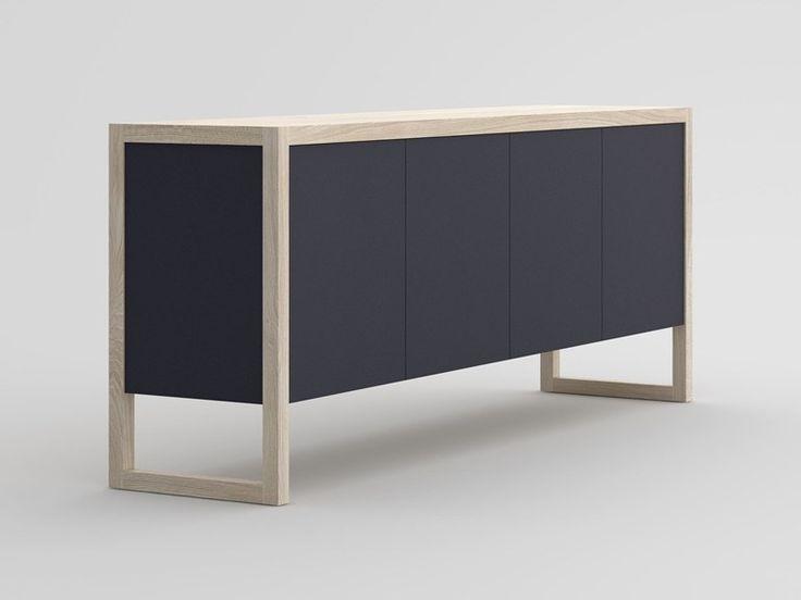 Solid wood sideboard with colored Bio MDF SENA | Sideboard - vitamin design