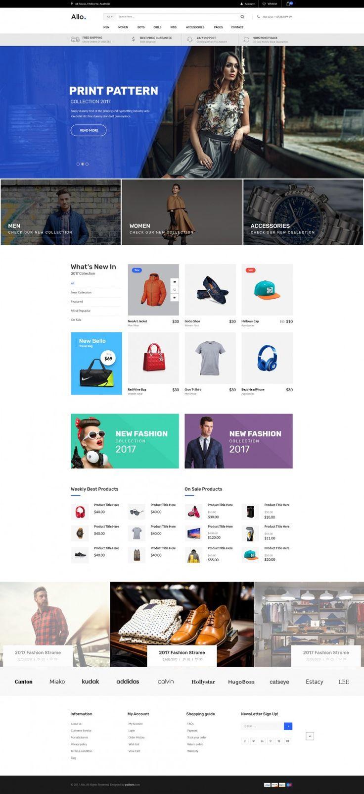 Allo E-Commerce Template