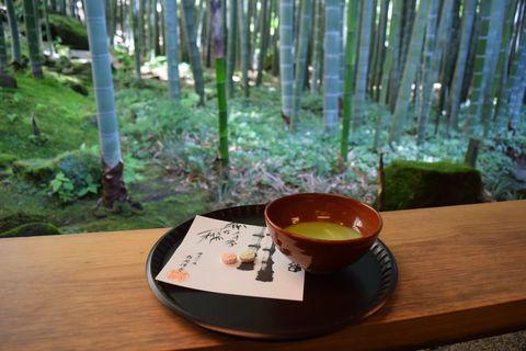 「竹庭の寺」として知られる鎌倉の報国寺。古くから境内の竹林が有名で、現在も多くの人が訪れる人気のお寺です。そんな報国寺の竹庭の奥にあるのが「休耕庵」。こちらは竹林の美しさを堪能しながらお抹茶を頂けるお茶席で、報国寺を訪れたならぜひ立ち寄りたい場所です。報国寺へ行くなら、おすすめは朝一番。開門は9時、ぜひ早起きして出かけましょう。