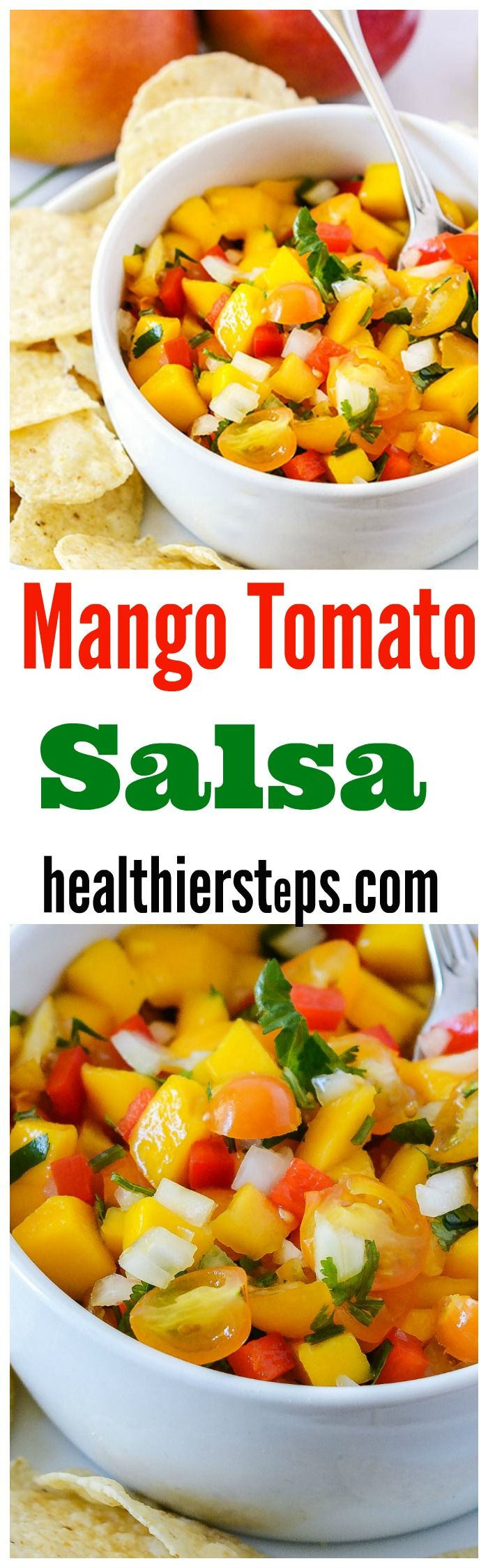 5.01 Mango Tomato Salsa recipe is so delicious, it is quick and easy to prepare. Juicy ripe mangoes with cherry tomatoes, red bell pepper…