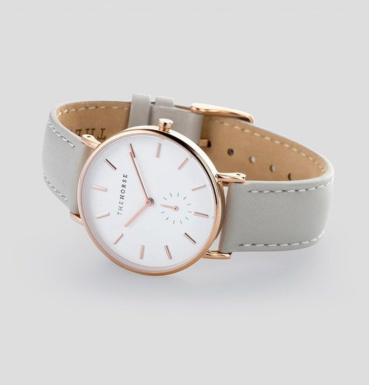 The Classic - Rose Gold / Grey Leather