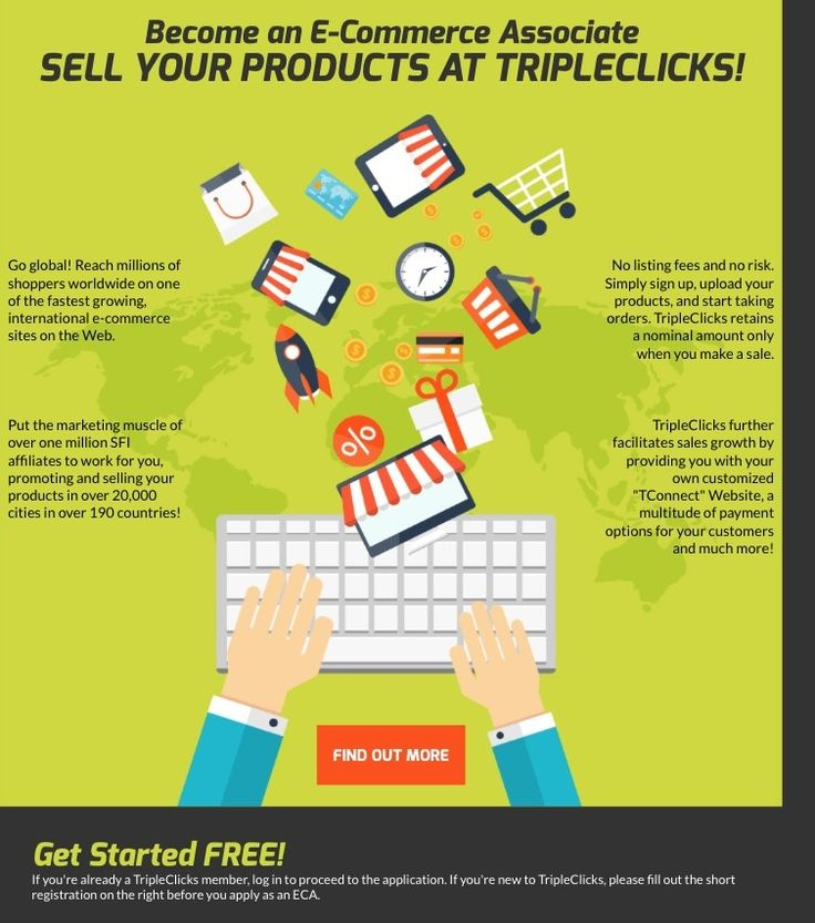 TripleClicks E-Commerce Associate Program -  Start sell your products online in TripleClicks website.Be a part of this revolutionary ECA program and win the marketing war! This secret weapon is vital for your business expansion. Don't miss this out! Being in the world of business isn't easy, and ...