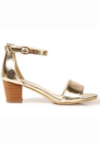 Sandály na podpatku #ModinoCZ #sandals #shoes #gold #fashion #style #moda #sandaly #boty #zlata