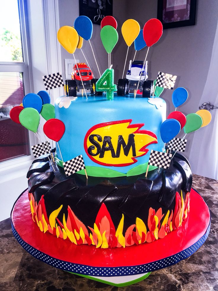 118 Best Images About Cakes Blaze And The Monster