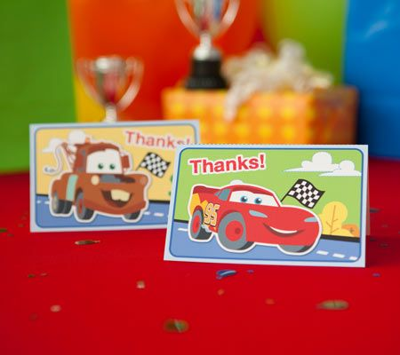 Cars Junior Junction Printable Thank You Notes