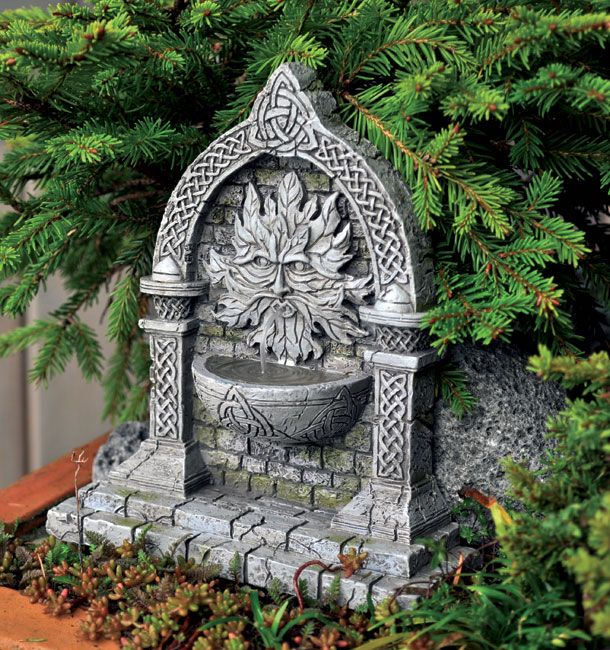 10 best images about fairy fountains on pinterest art for Irish fairy garden