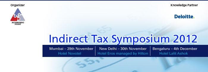 Indirect Tax Symposium 2012