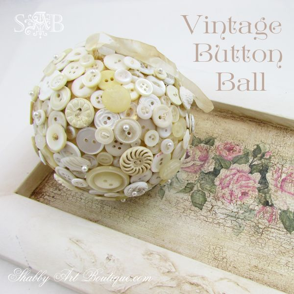 Shabby Art Boutique - Button Ball or orb... gorgeous!