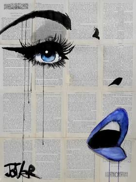 Saatchi Art Artist Loui Jover I like the emphasis on the lips and the eyes. Gives the artwork more depth. #bold