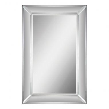 Le miroir Aubrey avec sa bordure imposante en miroir entourant un miroir centrale rectangulaire et biseaut� cr�ant une addition de classe � tout d�cor
