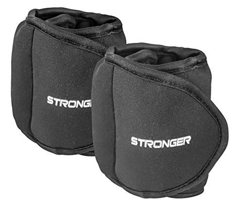 Stronger Adjustable Ankle Weights Set (2x5lbs Cuffs) - Professional Fitness Equipment for Women - At Home Workout Equipment for Calves, Glutes,