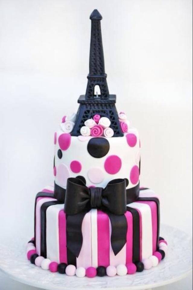 I Need Ideas For Decorating My Living Room: Paris Birthday Cake! I Love