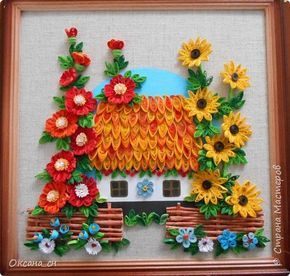 Quilled House & Flowers