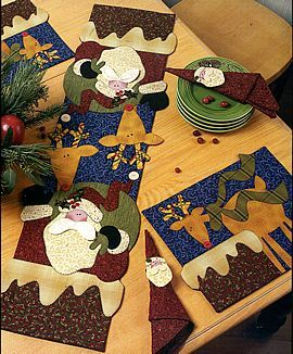 tablerunner & placemats . art to heart Love love love her stuff!