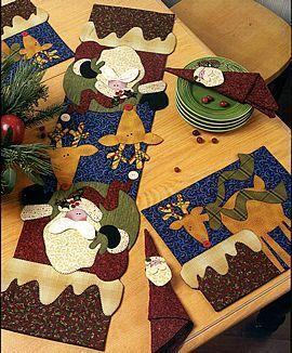 Julequilts..... dejlig mønster, de skal syes.