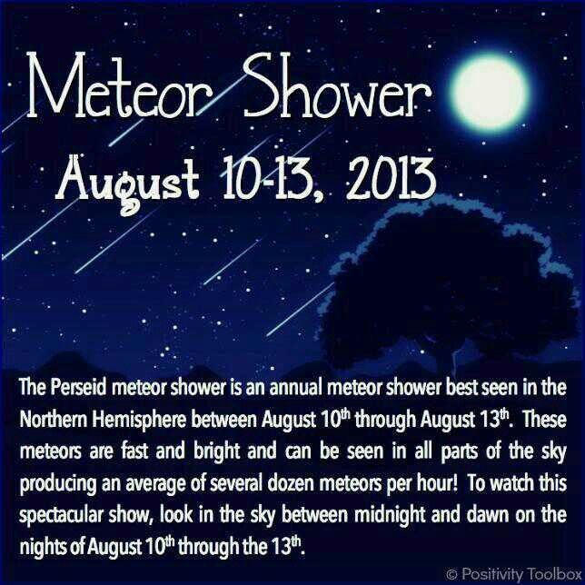 Meteror showers start tonight. The look like shooting stars,  Bernie Sanders is my STAR! LOVE HIM.