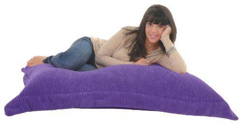 RAVIOLI GIANT – PURPLE OCEAN CORD Soft & Snugly Bean bag Floor cushion Beanbag