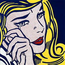 Crying Girl is the name of two different works by Roy Lichtenstein: a 1963 offset lithograph on lightweight, off-white wove paper and a 1964 porcelain enamel on steel.