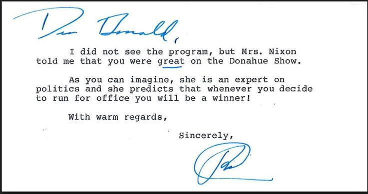 Letter Trump Received Nearly 30 Years Ago Explodes Across Internet After Win