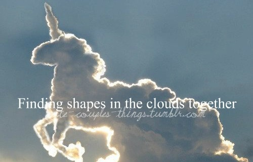 Finding shapes in the clouds together.