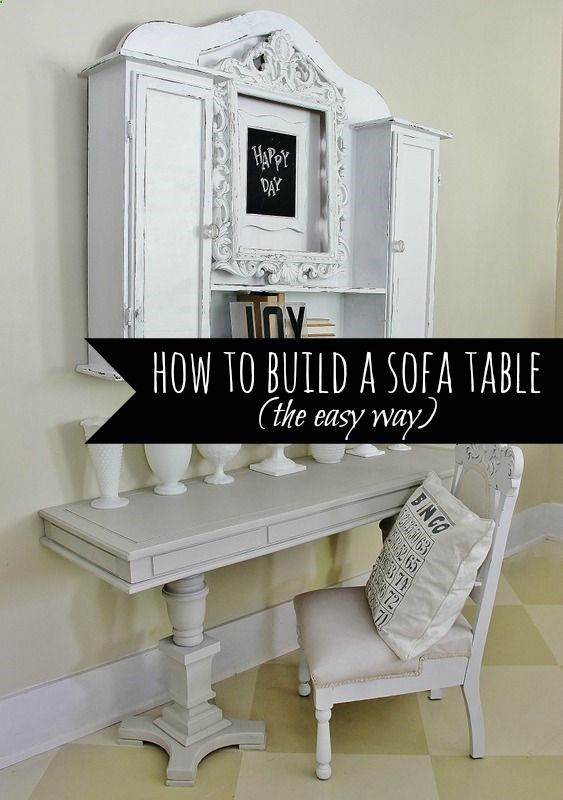 how to build a pedestal table