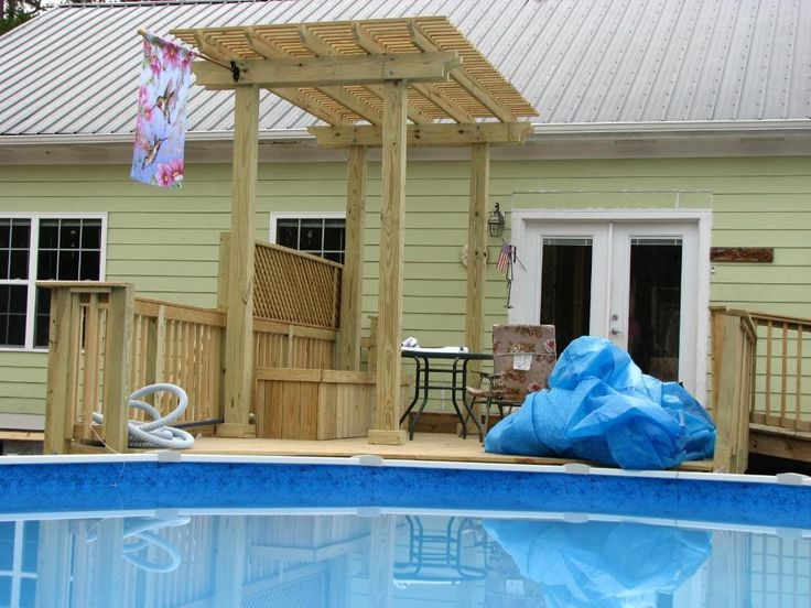 Above Ground Pool Decks From House above ground decks for pools | deck and pergola around above