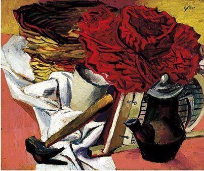 Renato Guttuso - Martello e cappello rosso, 1941