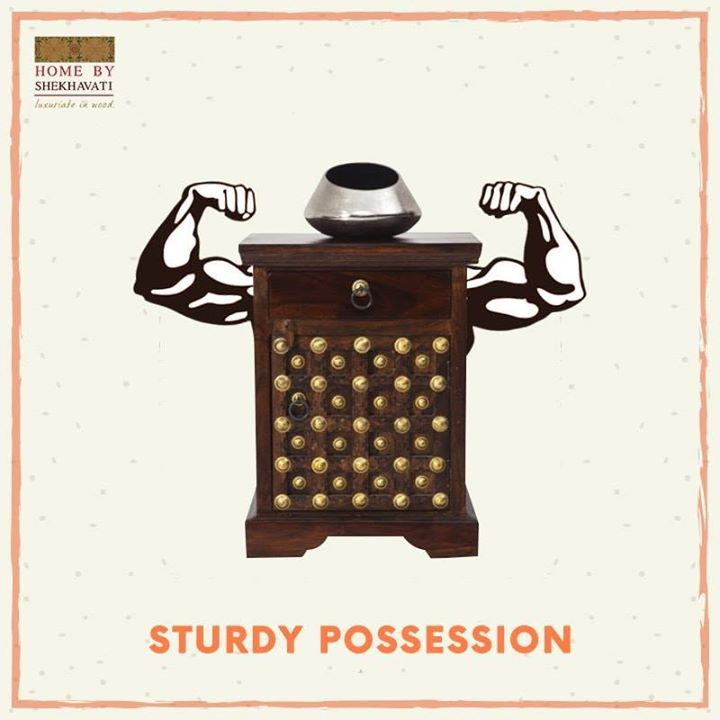 STURDY POSSESSION The weak fall, but the strong will remain and never go under - Anne Frank. Strength goes a long way. It stands the test of time and toughness. Furniture pieces of Home By Shekhavati are known for their strength and durability. Make them a part of your life.