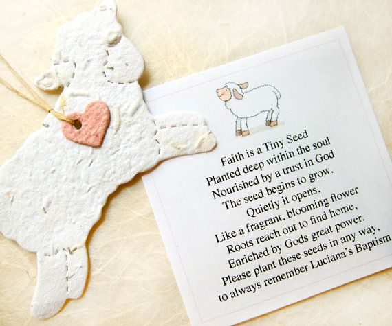 25 Plantable Paper Lambs Flower Seed Favors by recycledideas