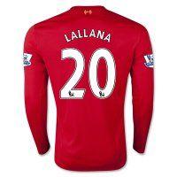 15-16 Liverpool Football Shirt Cheap LALLANA #20 Long Sleeve Home Replica Jersey [C208]
