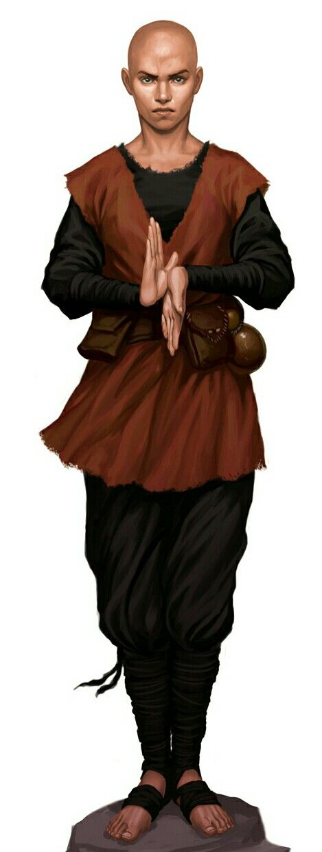 Male Human Monk - Pathfinder PFRPG DND D&D d20 fantasy