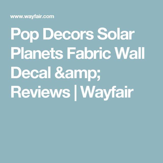 Pop Decors Solar Planets Fabric Wall Decal & Reviews | Wayfair