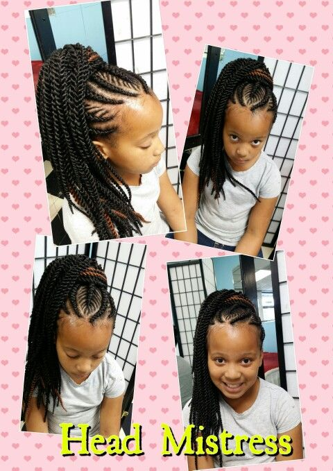 Natural Hair Kid Crotchets Little Black Girl Braids