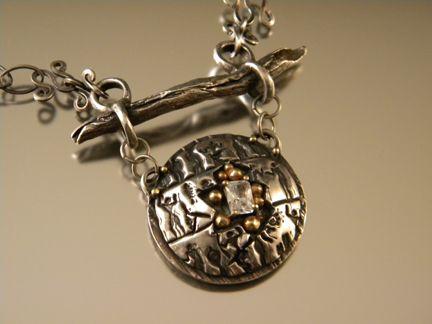 Enchanting pendant by Bernadette Denoux.