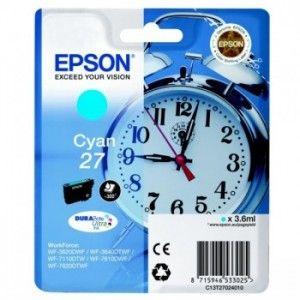 Oryginalny Tusz Epson T27 (C13T27024010) - Cyan 3.6 ml