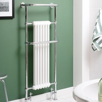Kudox Victoria Tall Towel Warmer Chrome, (W)576 x (H)1500mm, 5060235341724