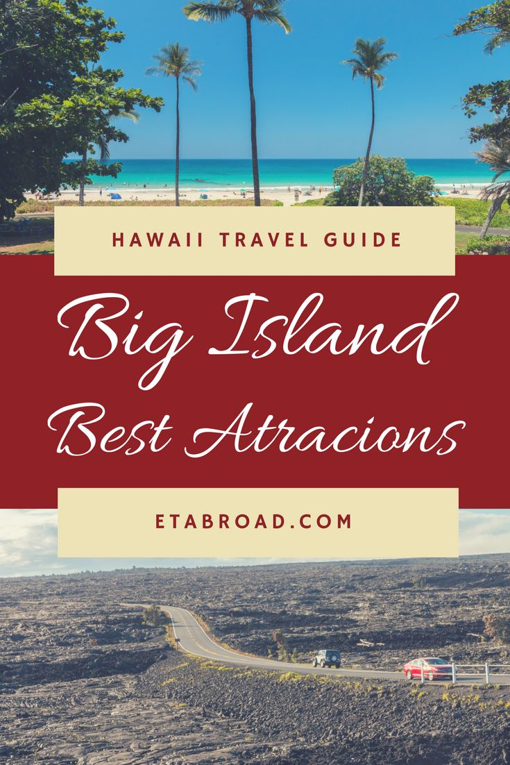 6 best attraction on Big Island you just must see. Enjoy the biggest island of Hawaii and its huge diversity of nature.